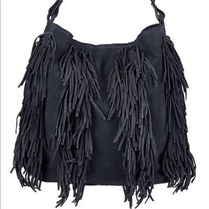 Topshop Leather Fringe Tote Hobo Bag